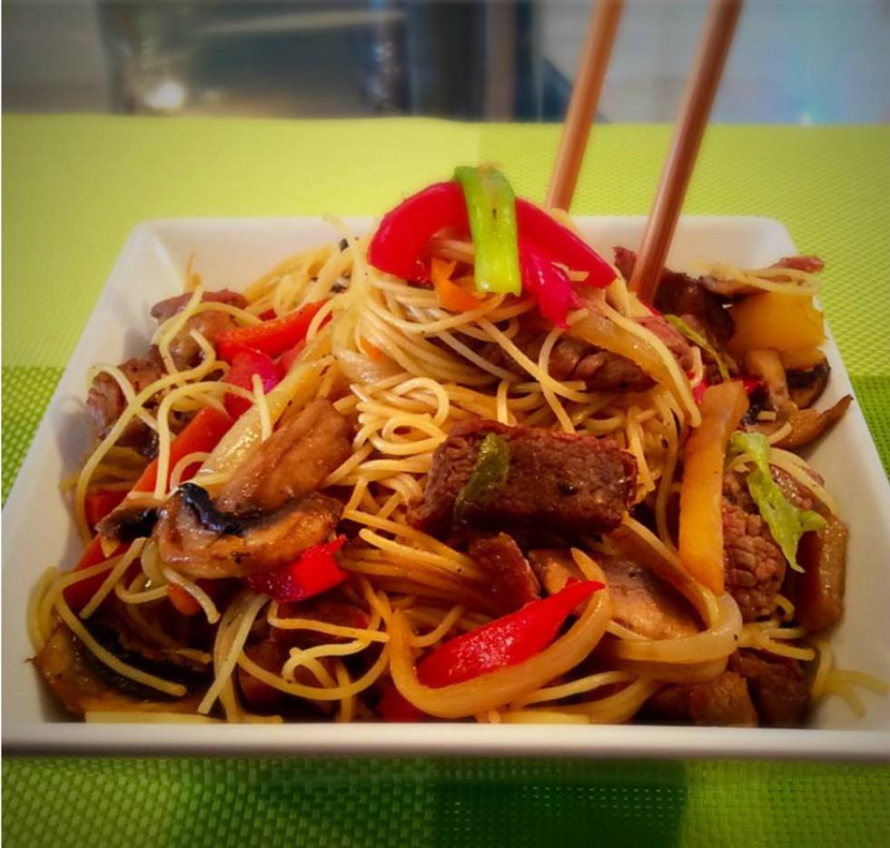 Beef Stir Fry Noodles…..