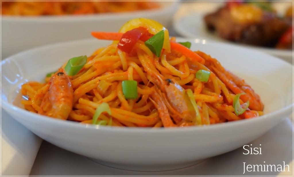 Jollof Spaghetti - Jollof Pasta