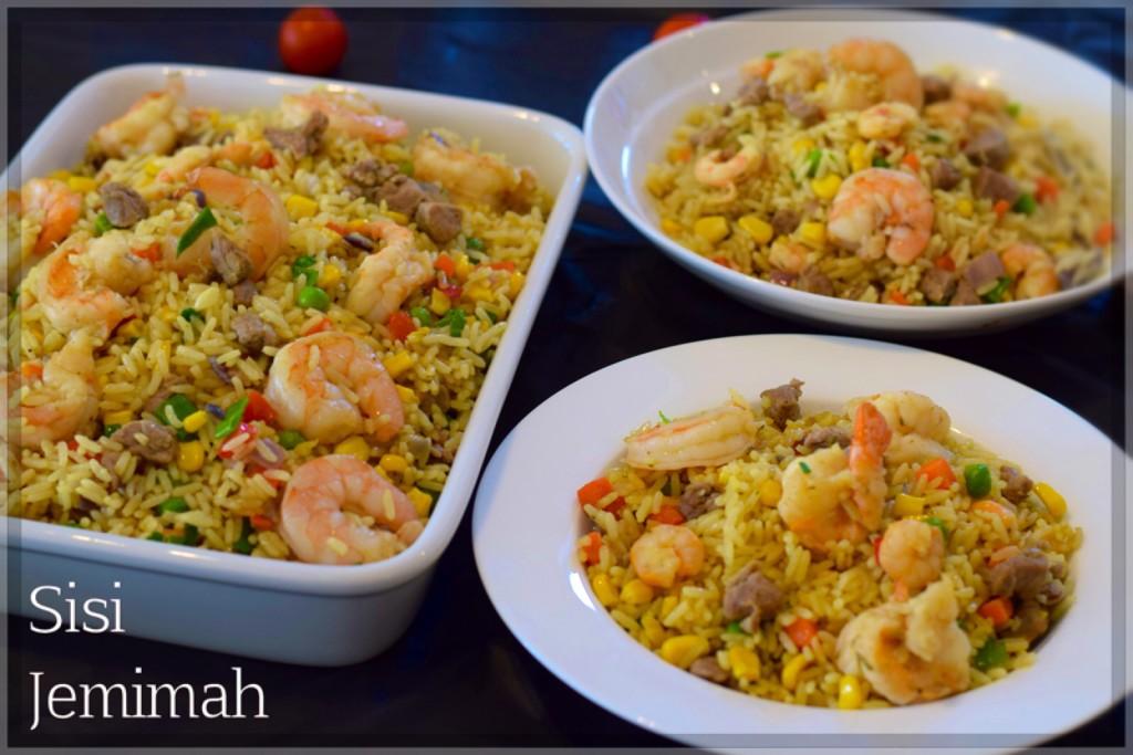 Nigerian shrimp fried rice