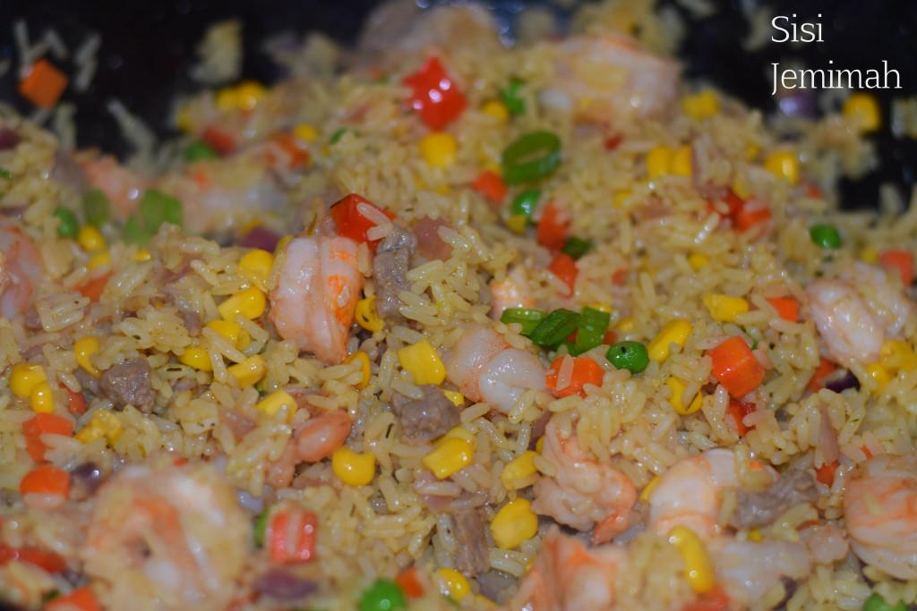 Nigerian Shrimp fried rice 9