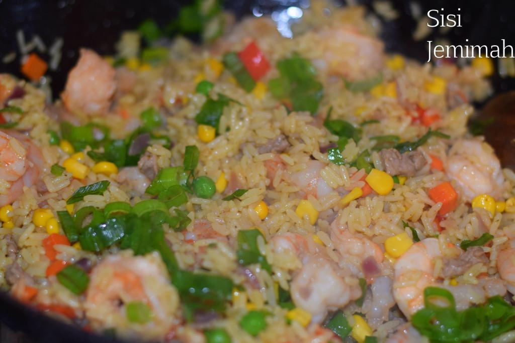 Nigerian shrimp fried rice 10