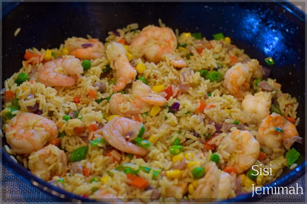 Nigerian shrimp fried rice 13