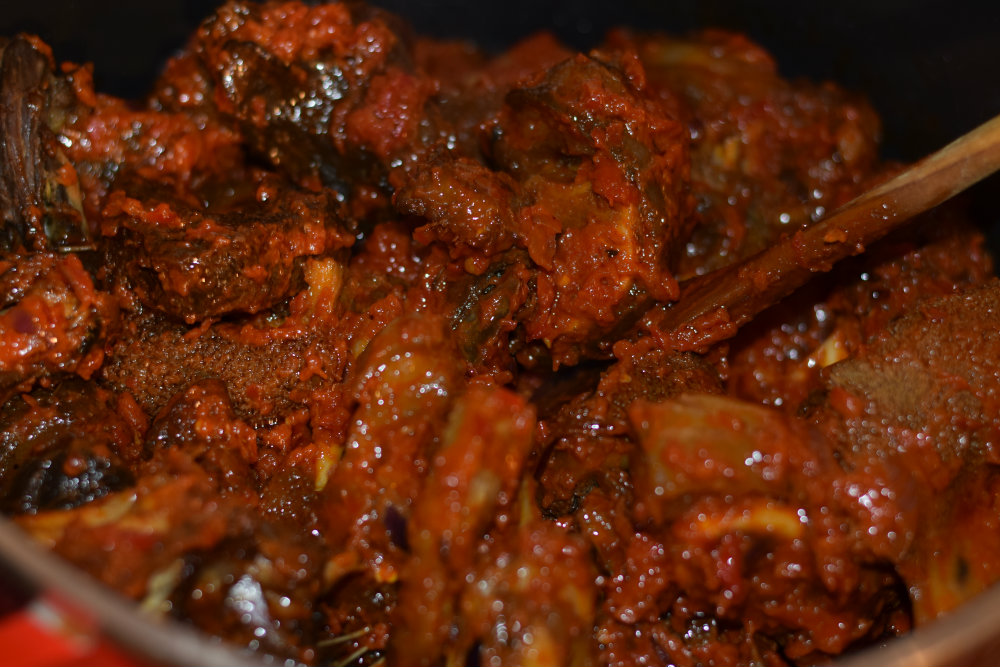 Nigerian Assorted peppered meats 8