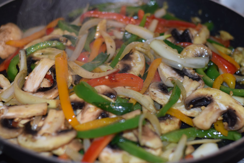 Chicken and Mushroom stir fry 14