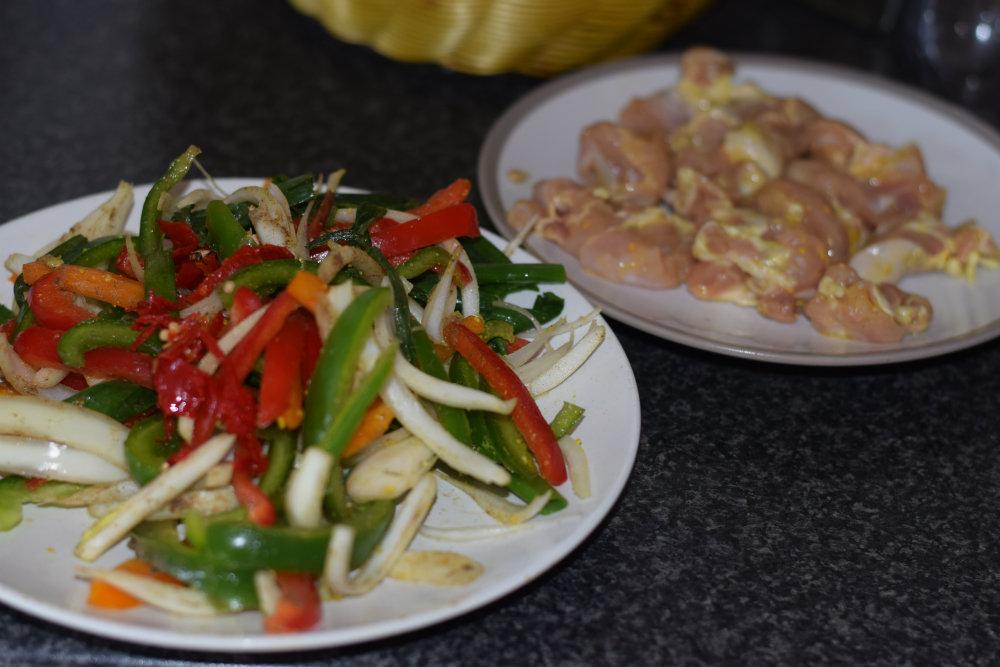 Chicken and Mushroom stir fry 8