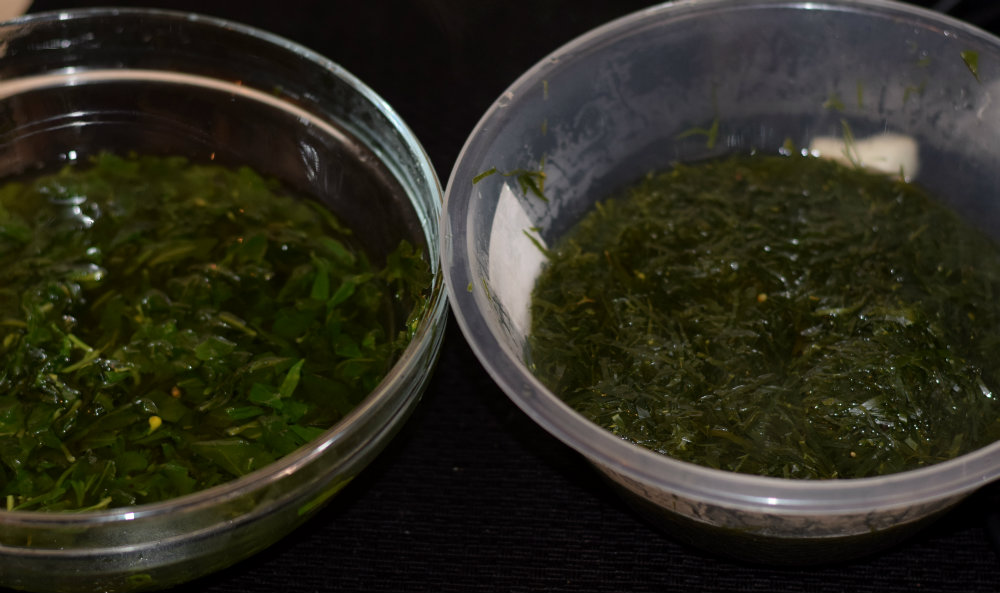 Afang soup 8 Okazi and water leaf