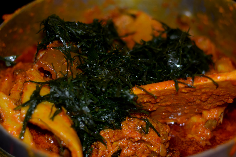 Egusi Soup with Okazi 14