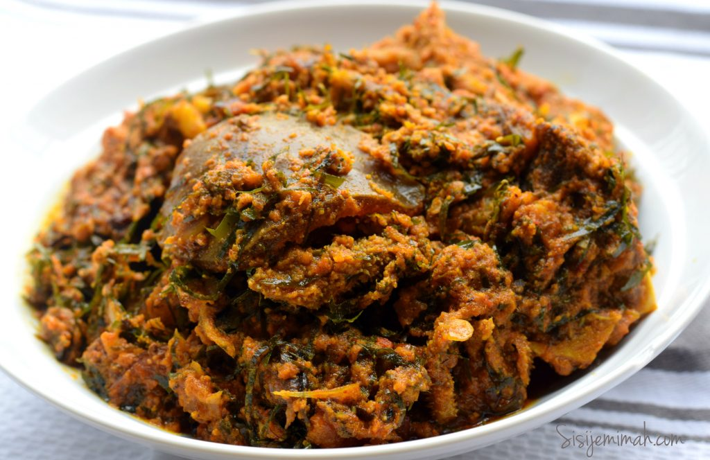Egusi Soup with Okazi 4