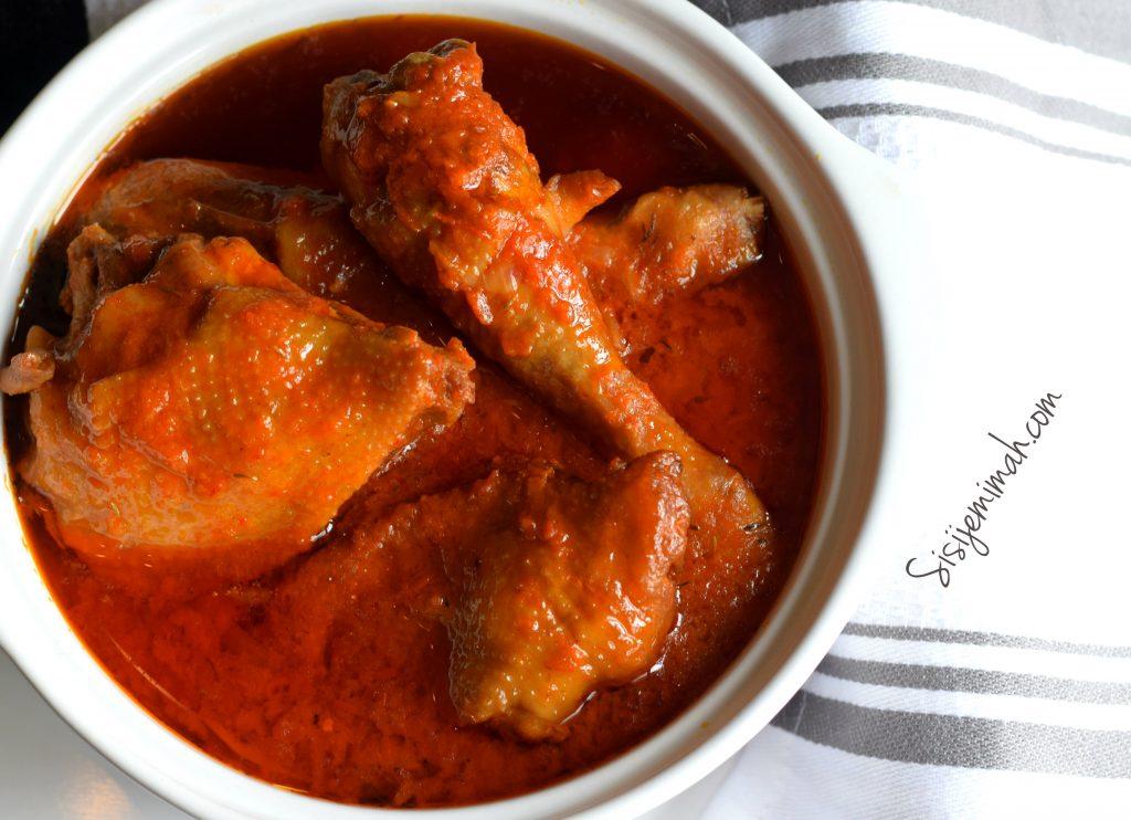 Nigerian chicken stew 14