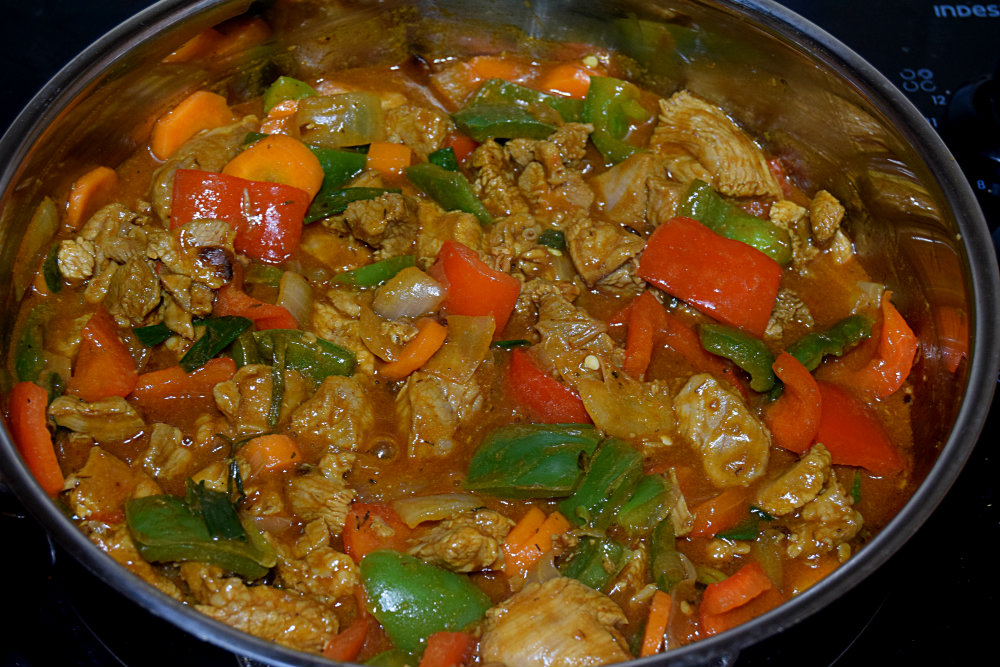 Turkey veggie sauce