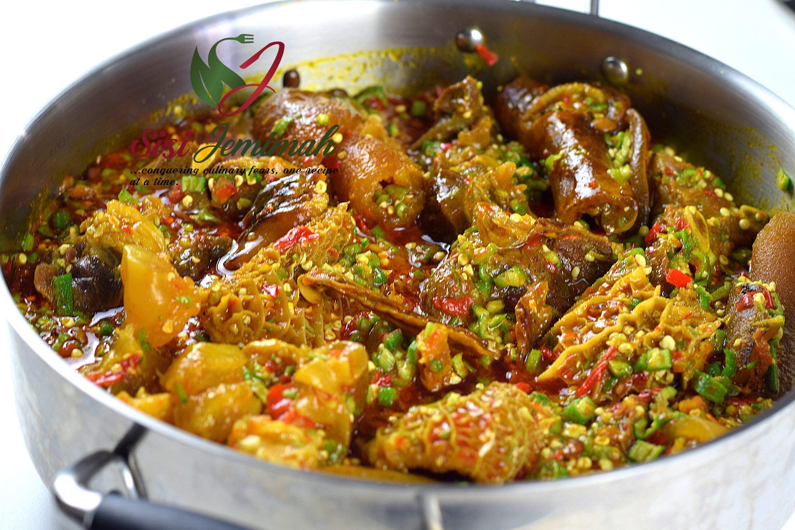 Nigerian Okra Soup Nigerian Okro Soup Recipe Sisi Jemimah