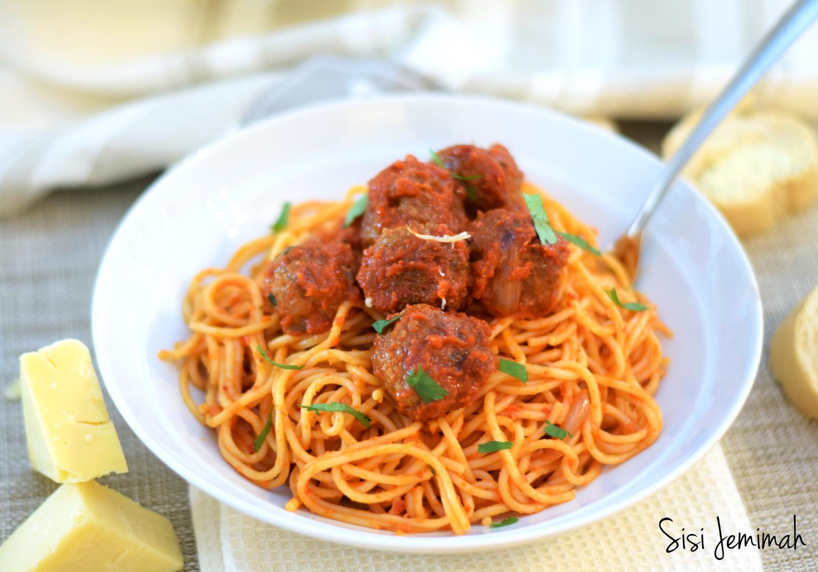 Spaghetti And Meatballs Nigerian Style Sisi Jemimah