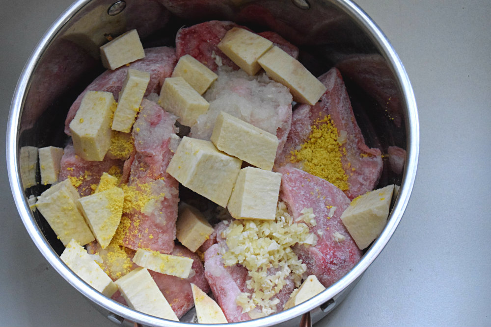 Image result for ingredients for Yam pepersoup